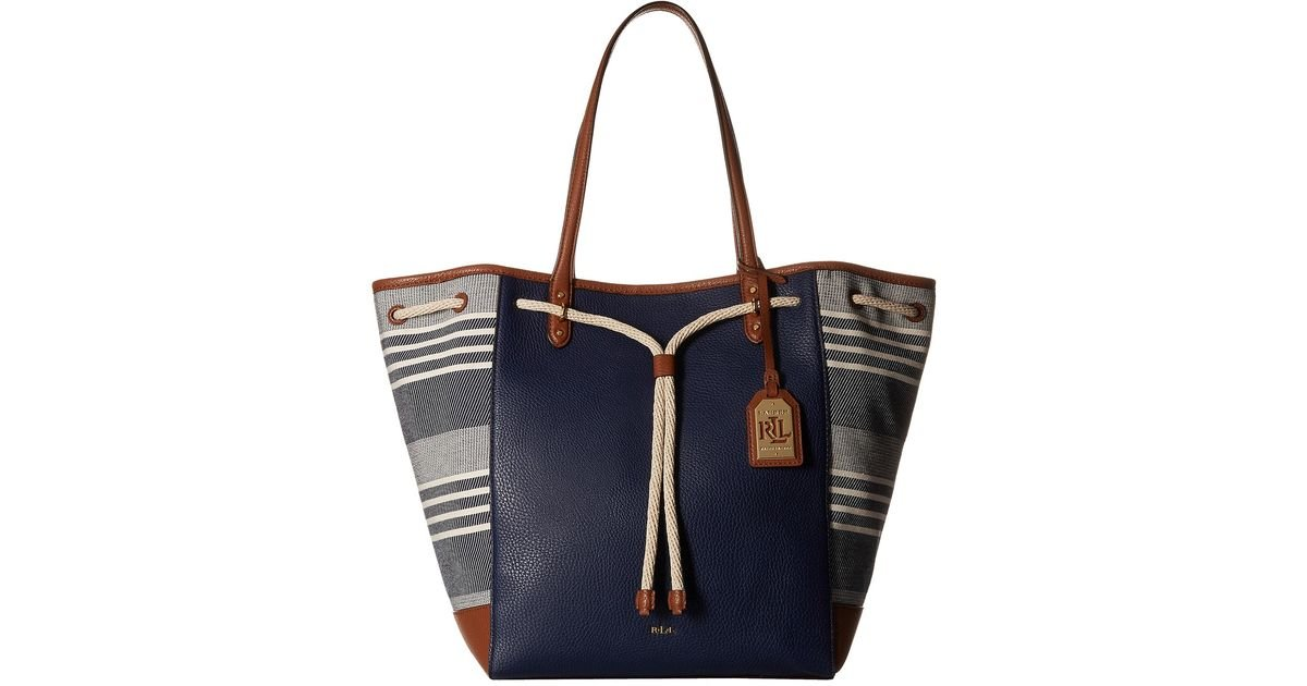 Ralph Lauren Tote Laukku : Lauren by ralph oxford chambray stripe large tote