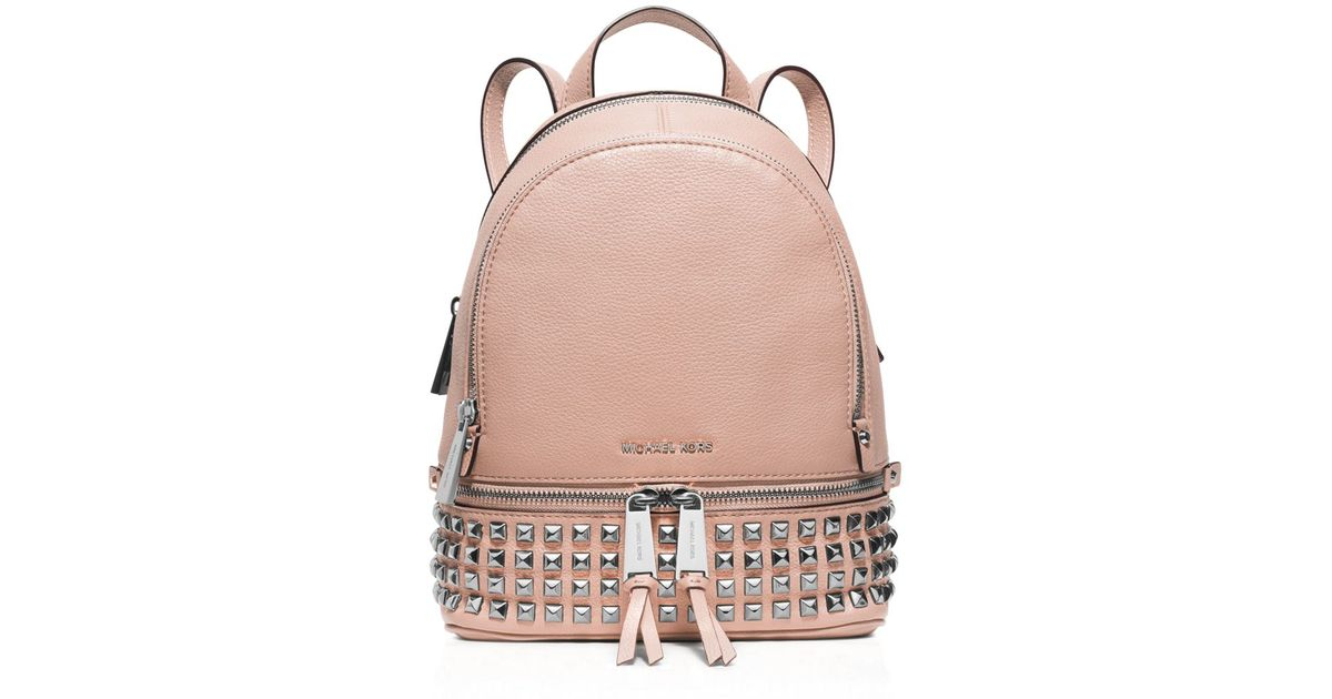 2fe67466afba MICHAEL Michael Kors Extra Small Rhea Zip Studded Backpack in Pink - Lyst