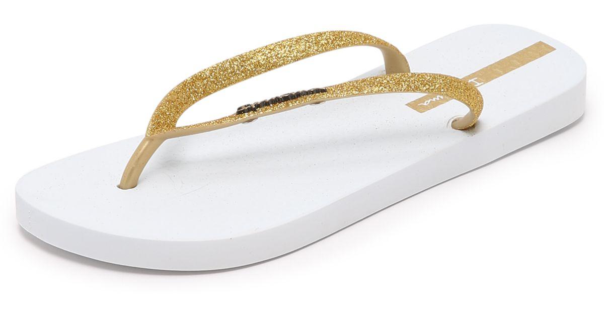 e0dc0ff19b2444 Ipanema Glitter Ii Flip Flops in White - Lyst