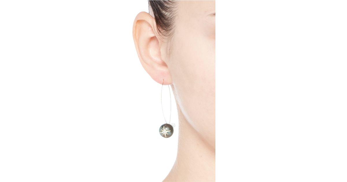 Mizuki 14k Gold Black Tahitian Pearl Earrings bxbxX