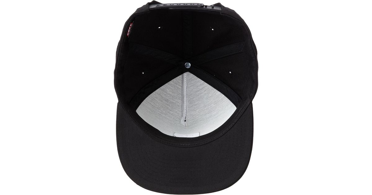 Lyst - Obey Downtown Snapback Hat in Black for Men 7d55df77bb13