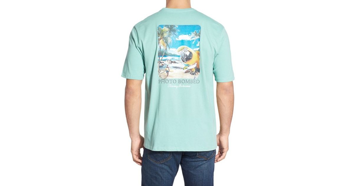 Tommy Bahama 39 Photo Bombed 39 Graphic T Shirt In Blue For