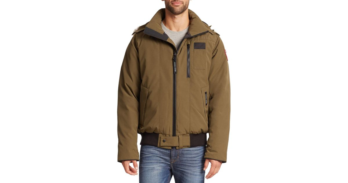 Canada Goose womens outlet shop - Canada goose Borden Fur-trimmed Puffer Jacket in Green for Men ...