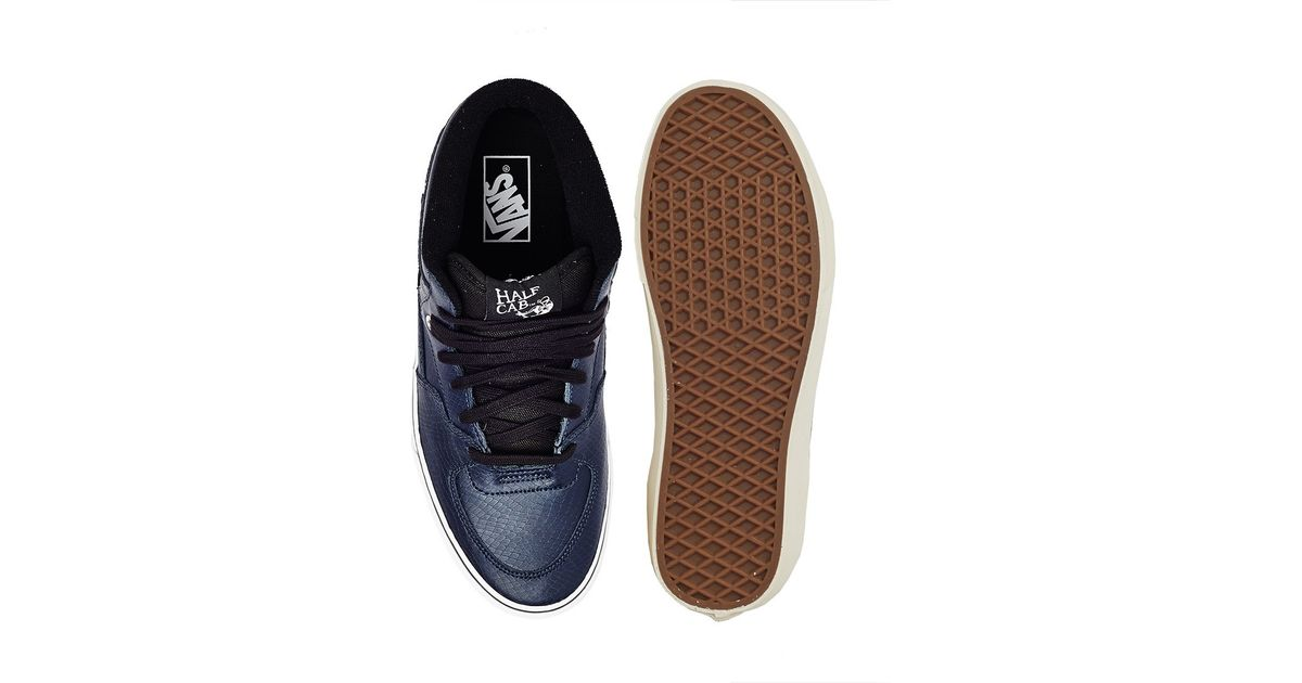 72882ccd25b3e1 Lyst - Vans Half Cab Trainers In Snake Effect in Blue for Men