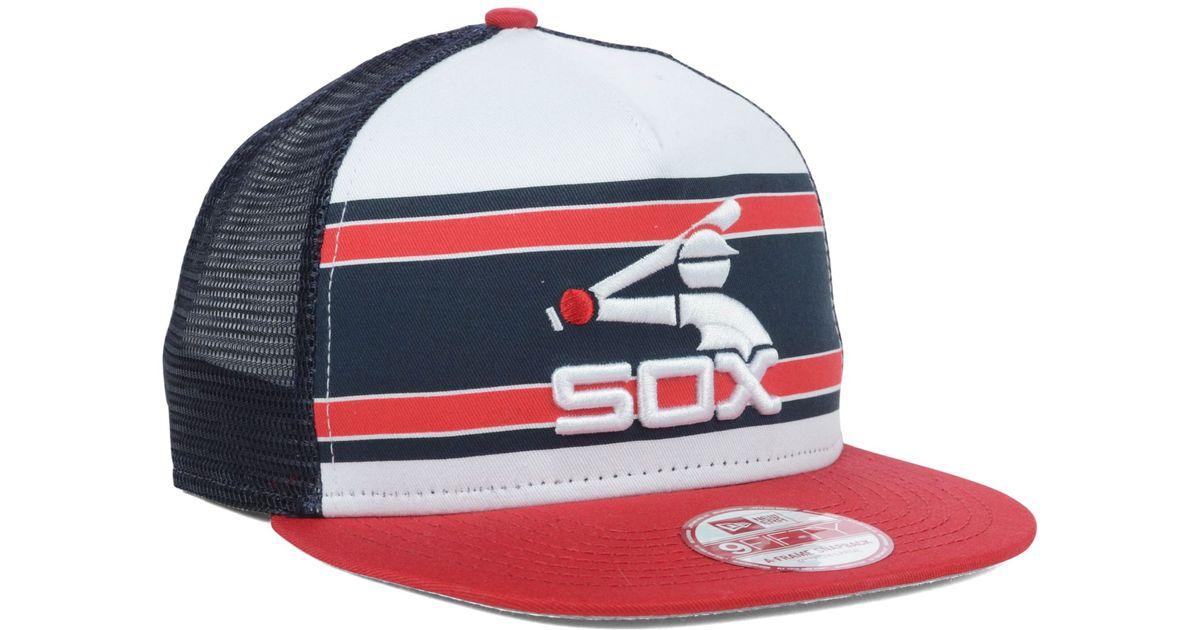 e2f0f4e2aa41f KTZ Chicago White Sox Mlb Band Slap 9fifty Snapback Cap for Men - Lyst