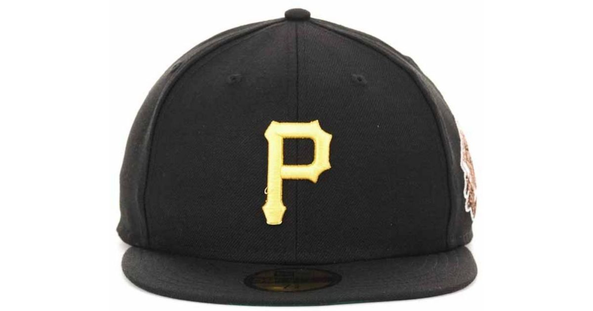 buy online a287b 1a2c0 ... official store spain lyst ktz pittsburgh pirates retro patch 59fifty cap  in black for men 846b2