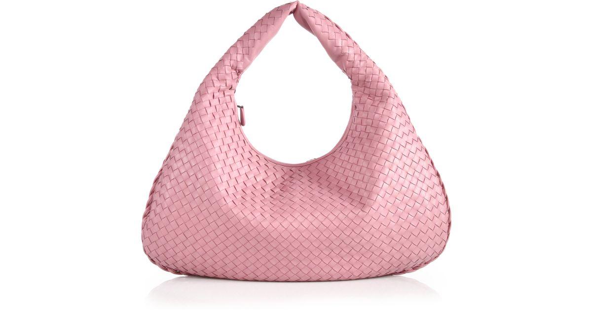 b92377856c Lyst - Bottega Veneta Veneta Large Hobo Bag in Pink