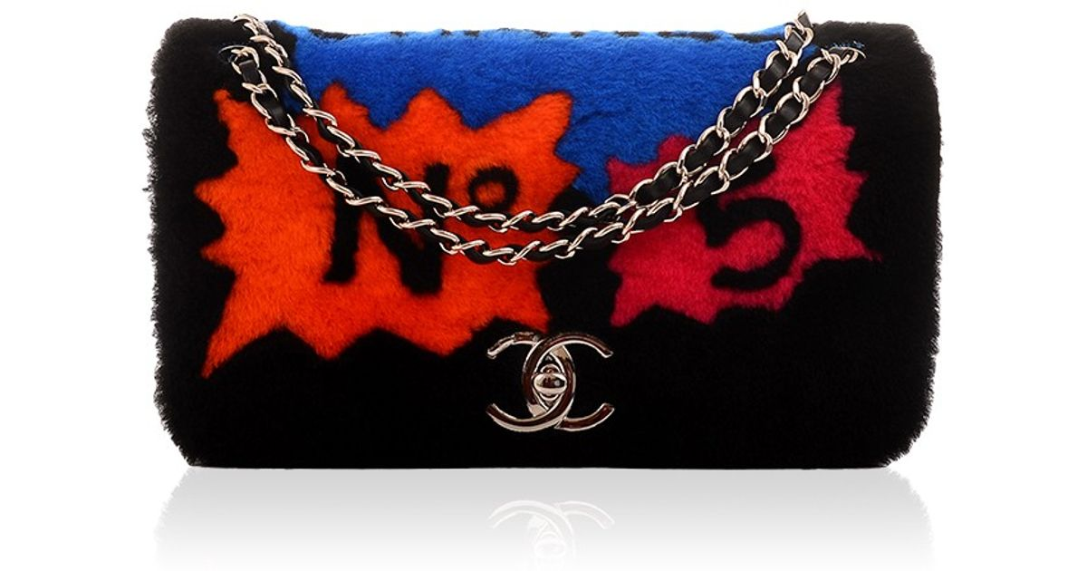 42ffd40fb2a9 Madison Avenue Couture Chanel Limited Edition Patchwork Shearling Flap Bag  - Lyst