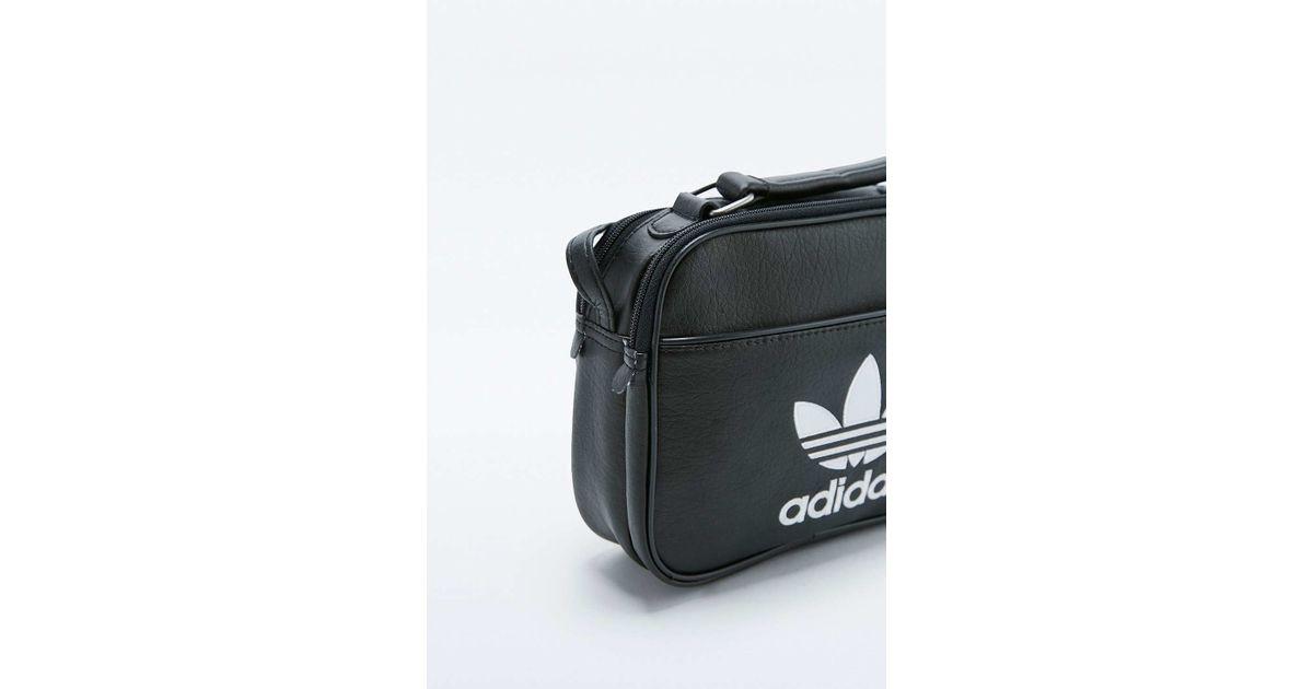 8cbc2d8a36a2 adidas Originals Mini Black Airliner Bag in Black - Lyst
