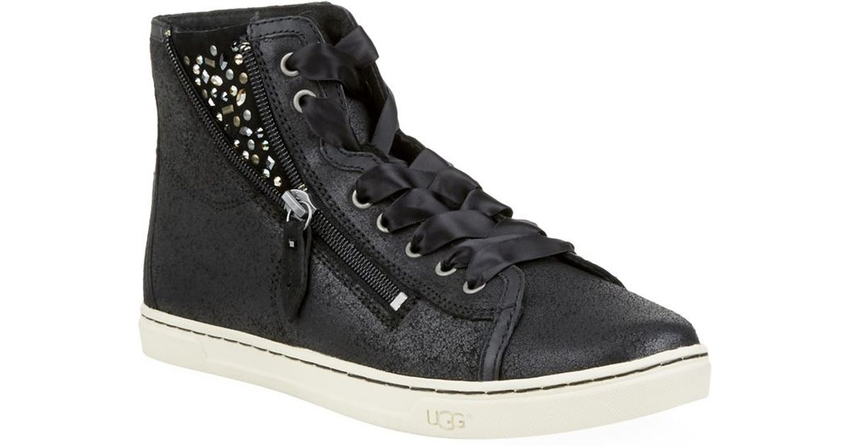 59e524bfd29 UGG - Black Blaney Crystals High-top Sneaker - Lyst