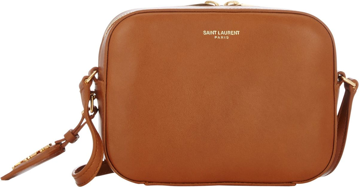 aa555ff3137a Saint Laurent Monogram Small Camera Bag in Brown - Lyst