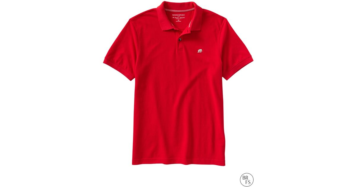 a8a91b26d Banana Republic Factory Elephant Logo Polo in Red for Men - Lyst