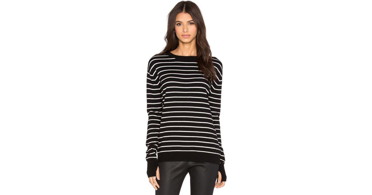 ceccab335 Lyst - Pam   Gela Twisted Back Sweater in Black