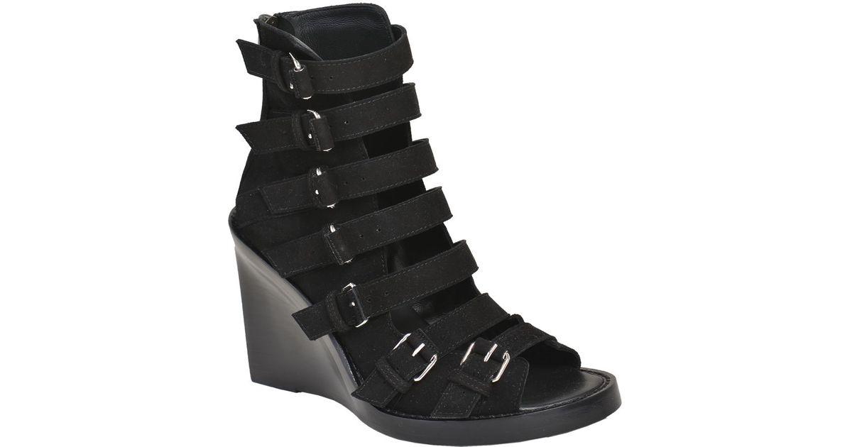 buckled wedge sandals - Black Ann Demeulemeester 5ItcWiZ