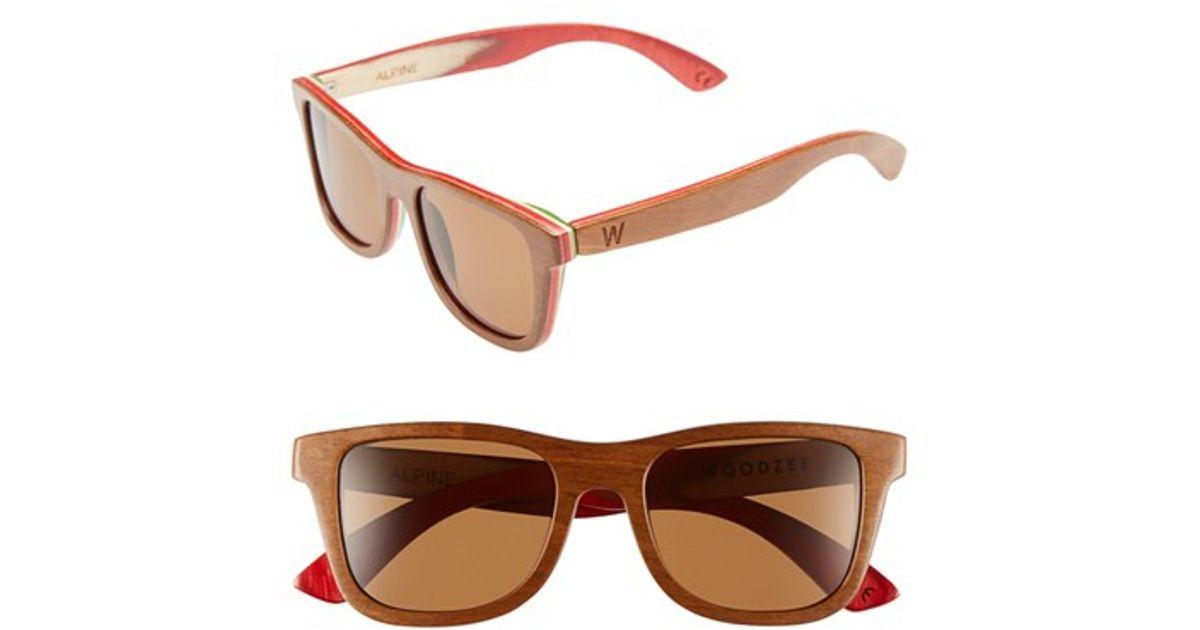 0df7c578768 Lyst - Woodzee  alpine  48mm Polarized Wood Sunglasses in Brown