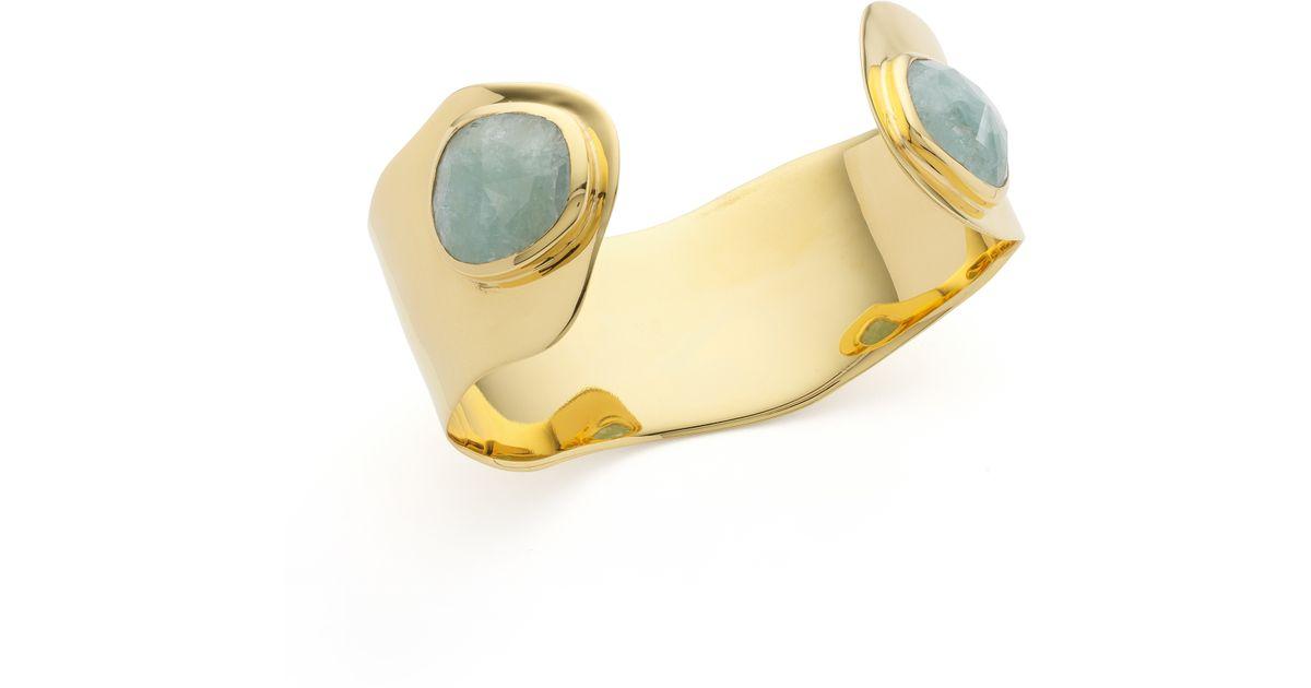 Gold Siren Odyssey Cuff Aquamarine Monica Vinader UrW07ug3W