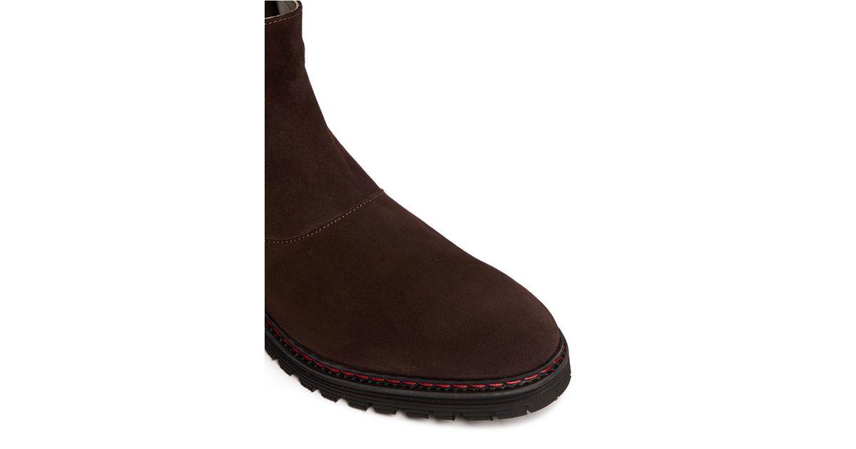 ArmaniSuede Wingtip Chelsea Boots zdobrBb6
