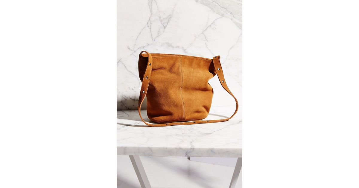 6cec22b410 Lyst - Ecote Suede Drape Shoulder Bag in Brown