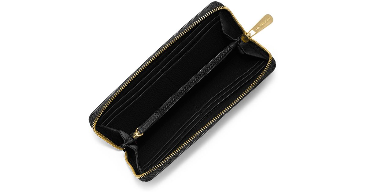 7f72bbc44a9c7 Lyst - MICHAEL Michael Kors Fulton Zip-around Continental Wallet in Black