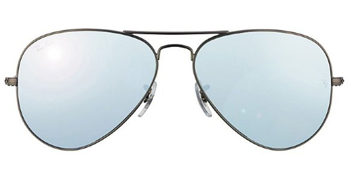 Lyst - Ray-Ban Rb 3025 029 30 Matte Gunmetal Aviator Metal Sunglasses-58mm  in Metallic 01318e0d94b3