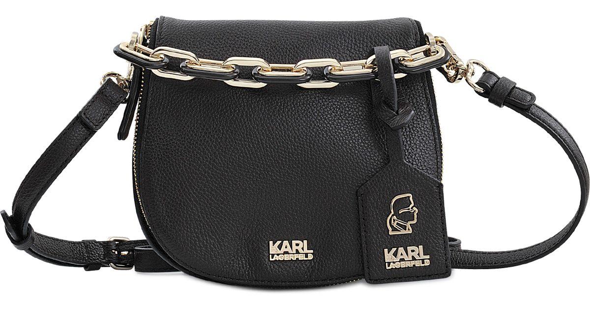 Lyst Karl Lagerfeld K Grainy Small Satchel Bag In Black