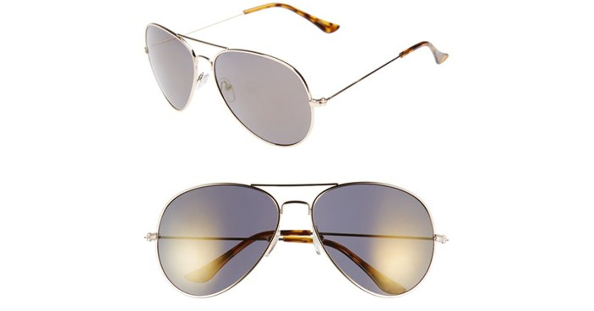 c9c53df970d Lyst - Icon Eyewear  carston  60mm Aviator Sunglasses in Metallic for Men