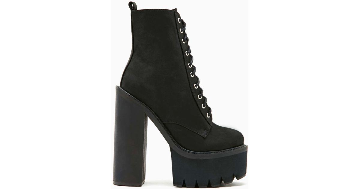 2c0ee861555 Lyst - Nasty Gal Jeffrey Campbell Syndicate Platform Boot in Black