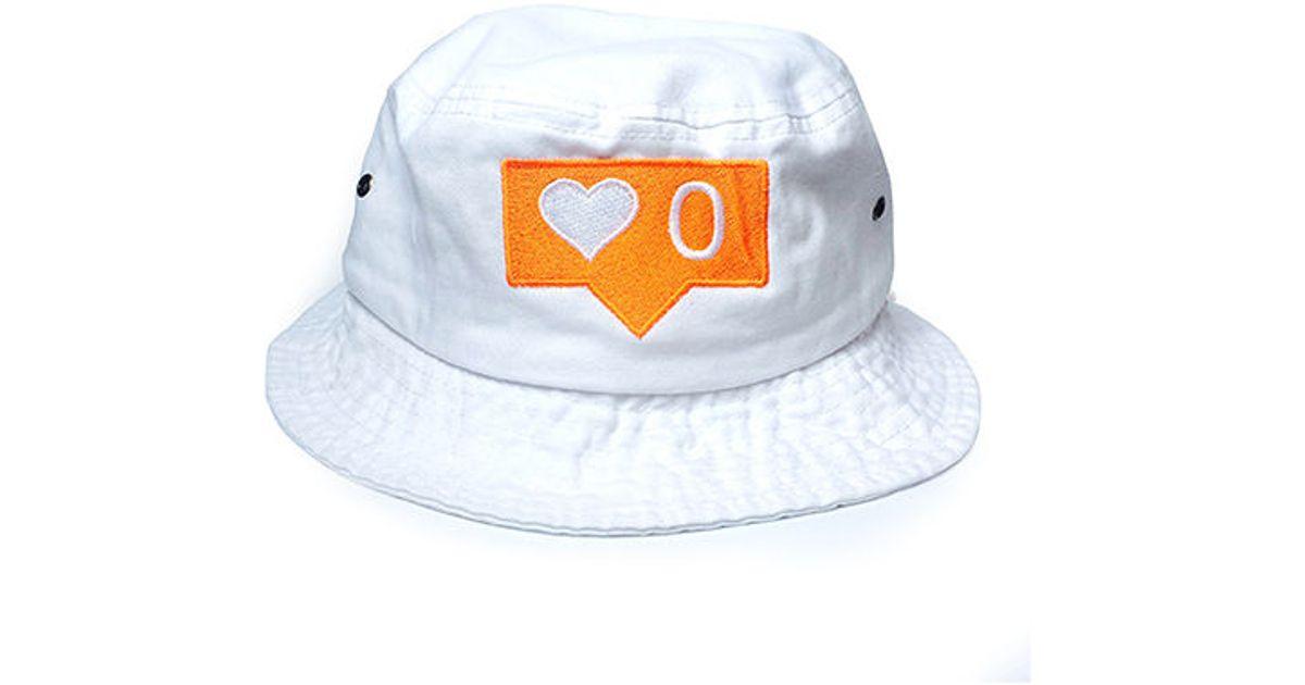 fda40e29464 Lyst - 1st Class No Love Bucket Hat in White for Men
