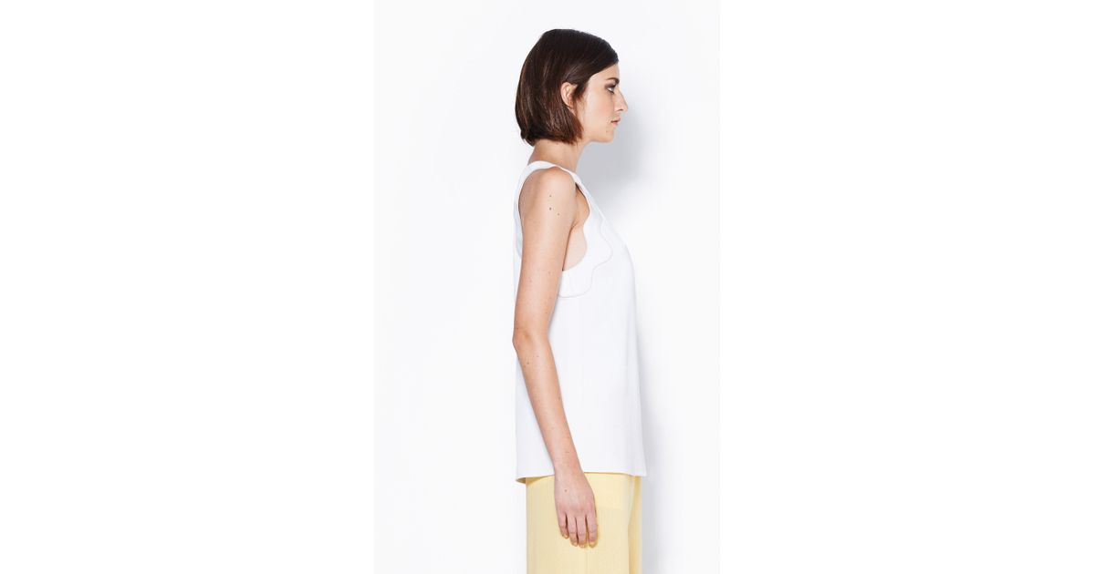 d6fc01fefc9 Lyst - 3.1 Phillip Lim Embroidered Ric-Rac Tank Top in White