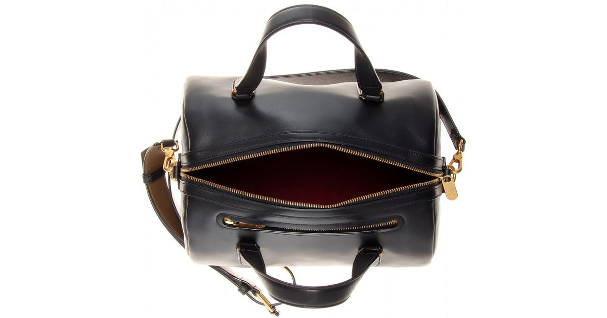 Marc By Jacobs Black Leather Bowling Bag Lyst