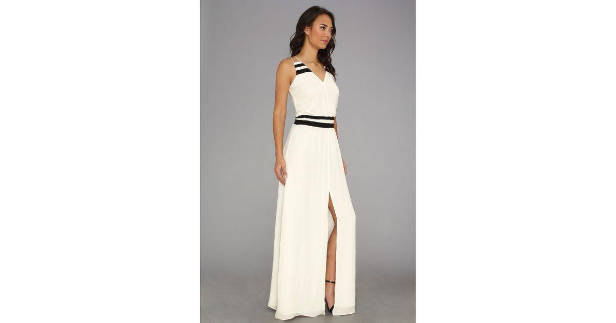 Lyst Parker Adelaide Combo Dress In White