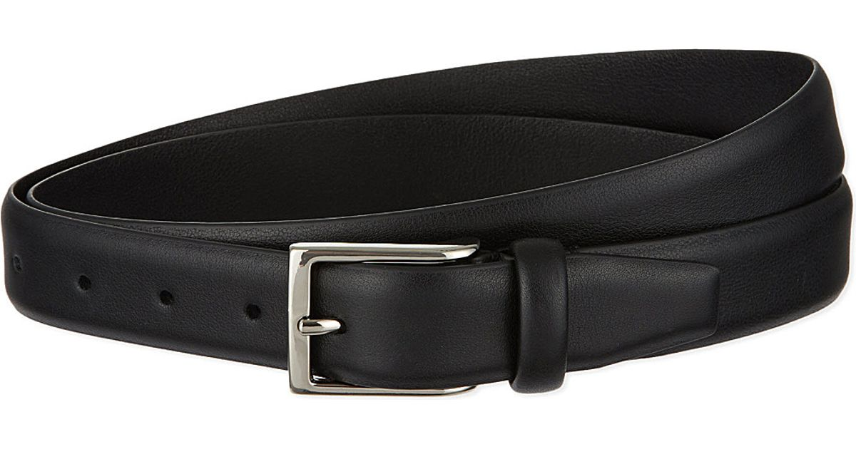 andersons soft leather belt in black lyst