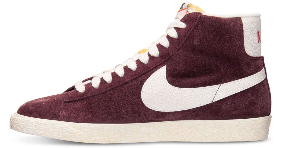 ... buy lyst nike womens blazer mid suede vintage casual sneakers from  finish line in purple for low price nike sb bruin high ... a392306c4c