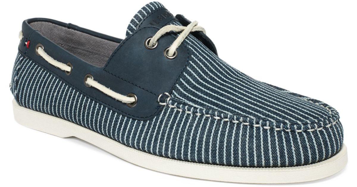 Lyst tommy hilfiger bowman 2 boat shoes in blue for men publicscrutiny Images