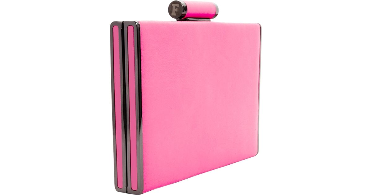 agreatvarietyofmodels quite nice order French Connection Clutch Bag In Bright Pink - Lyst