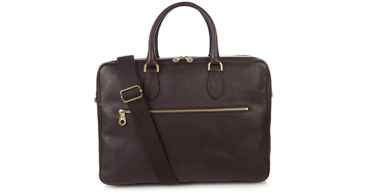 4abb9b4b8ac ... greece lyst mulberry heathcliffe leather briefcase in brown for men  f83cf 75dd7