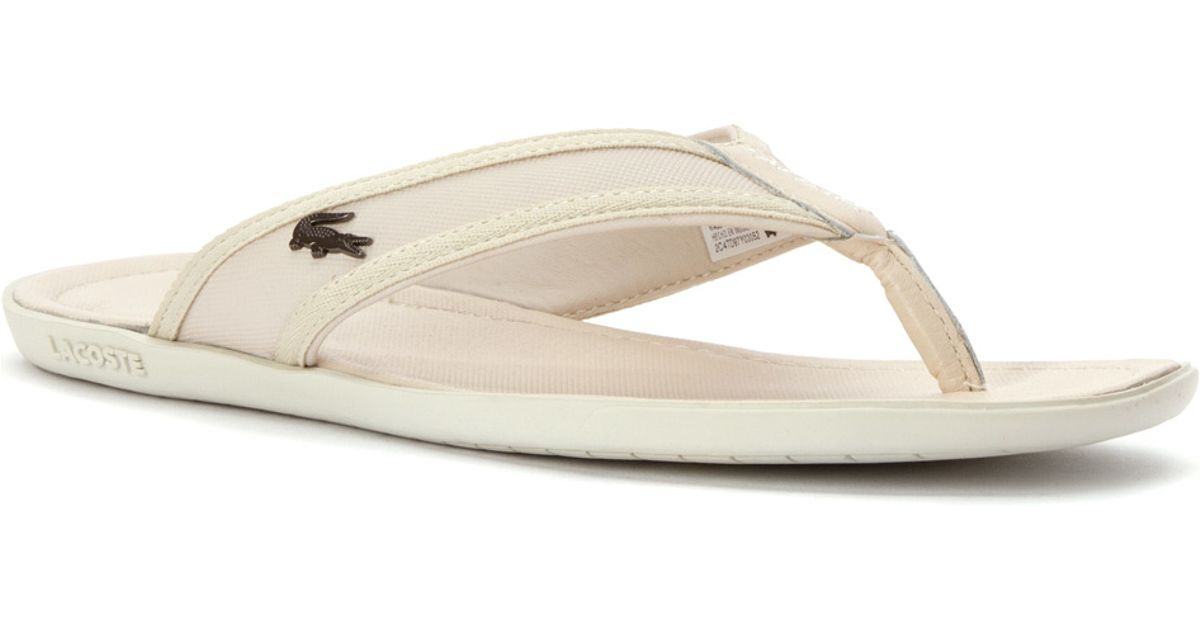 b6d4de555bba Lyst - Lacoste Carros 6 Sandal in White for Men