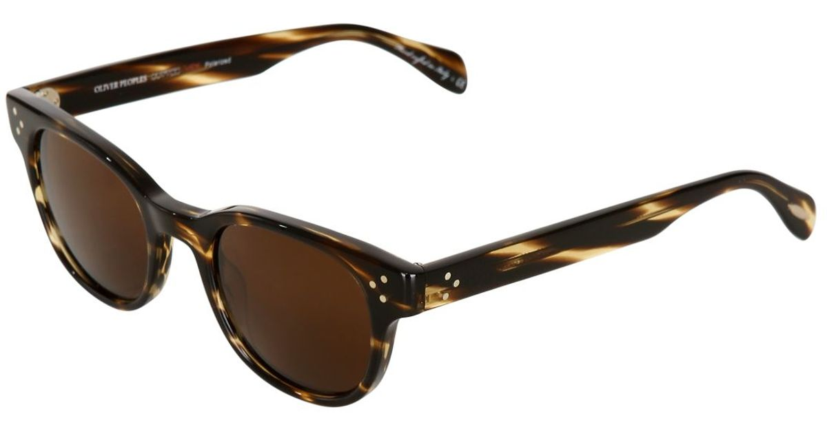 593f8b4b9e Lyst - Oliver Peoples Afton Sun Square Acetate Sunglasses in Brown for Men