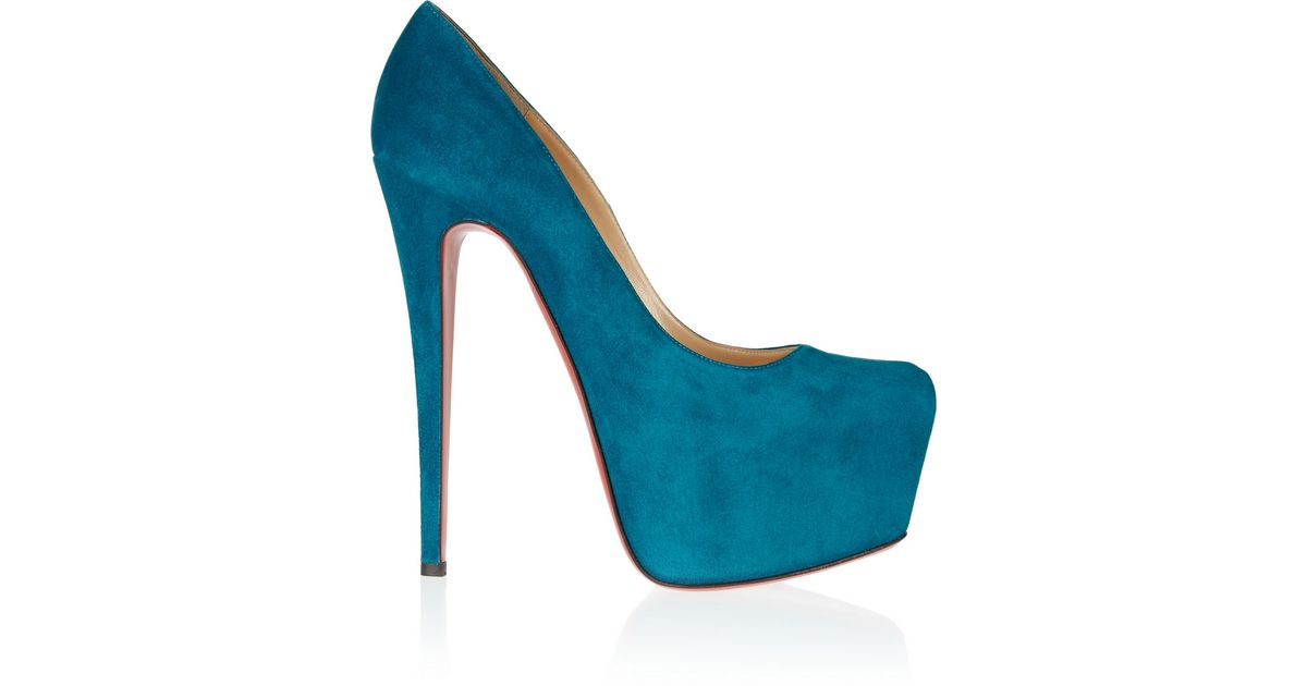 f44c4009bf2 Lyst - Christian Louboutin Daffodile 160 Suede Platform Pumps in Blue