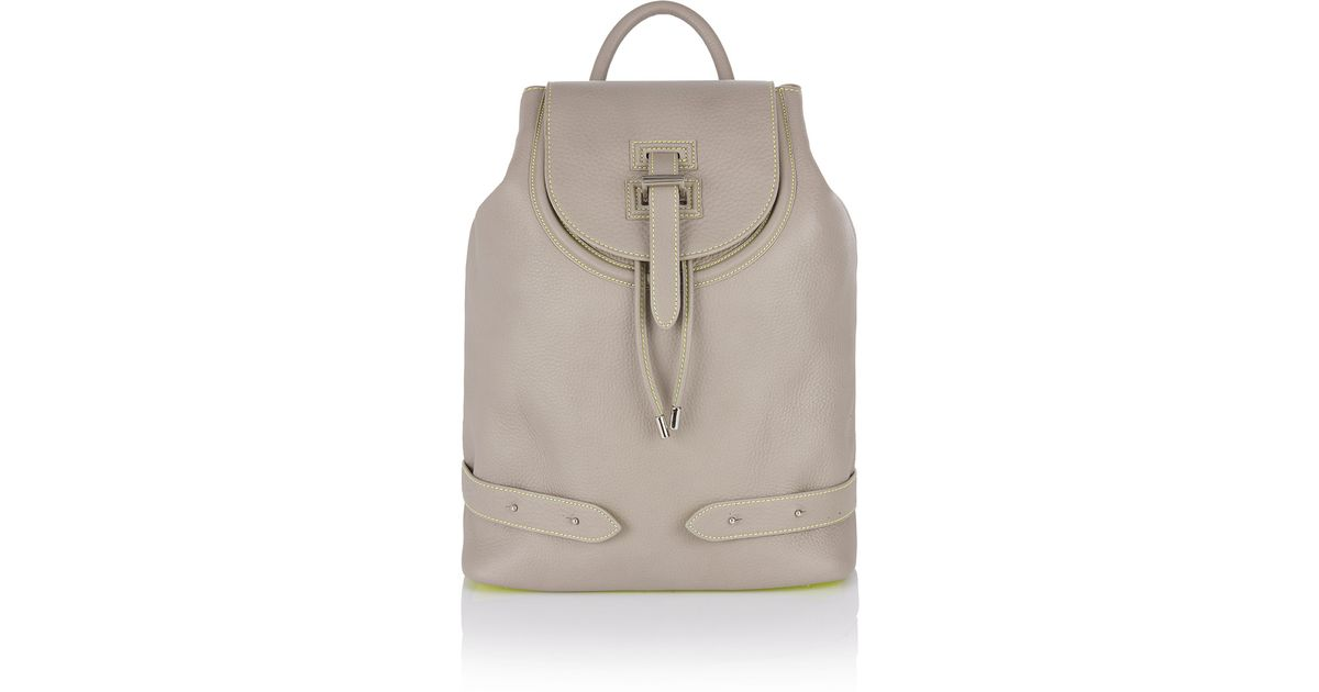 Lyst - meli melo Backpack Taupe   Fluoro Yellow in Gray 2db8a613a38e7