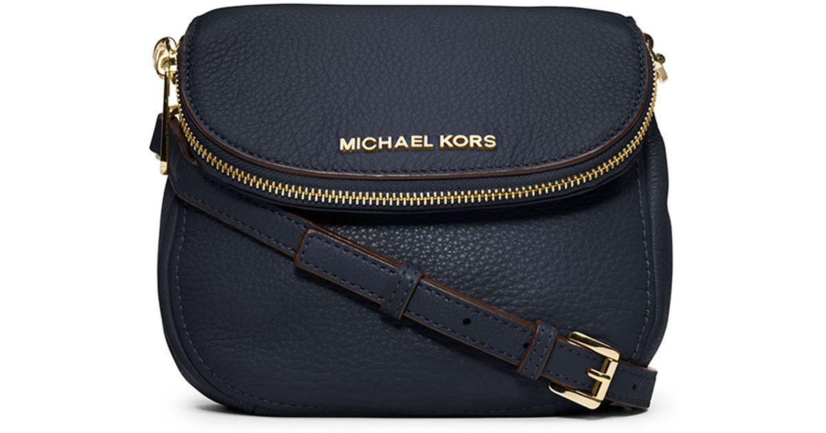 1e21c7f51cde MICHAEL Michael Kors Bedford Flap Crossbody Bag in Blue - Lyst