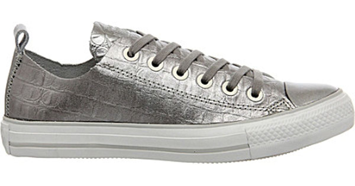 342c9aeec95151 Converse Ctas Croc-effect Leather Trainers