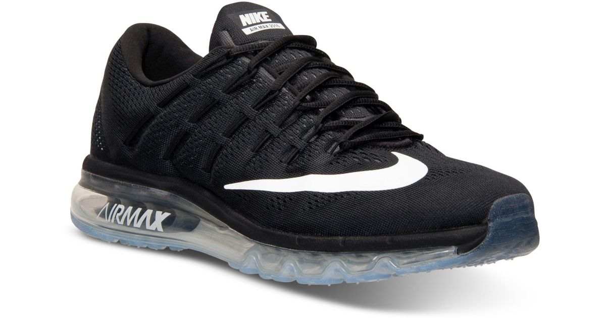 cbb5eb812997 ... coupon code lyst nike mens air max 2016 running sneakers from finish  line in black for