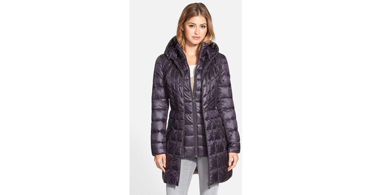 d983f5d585c Bernardo Packable Hooded Down & Primaloft Fill Coat With Contrast Inset  Bib, (Online Only) in Blue - Lyst