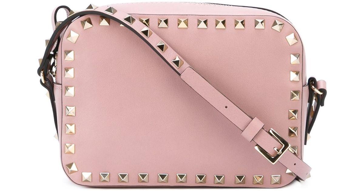 6d8f28504d0 Valentino 'rockstud' Crossbody Bag in Pink - Lyst