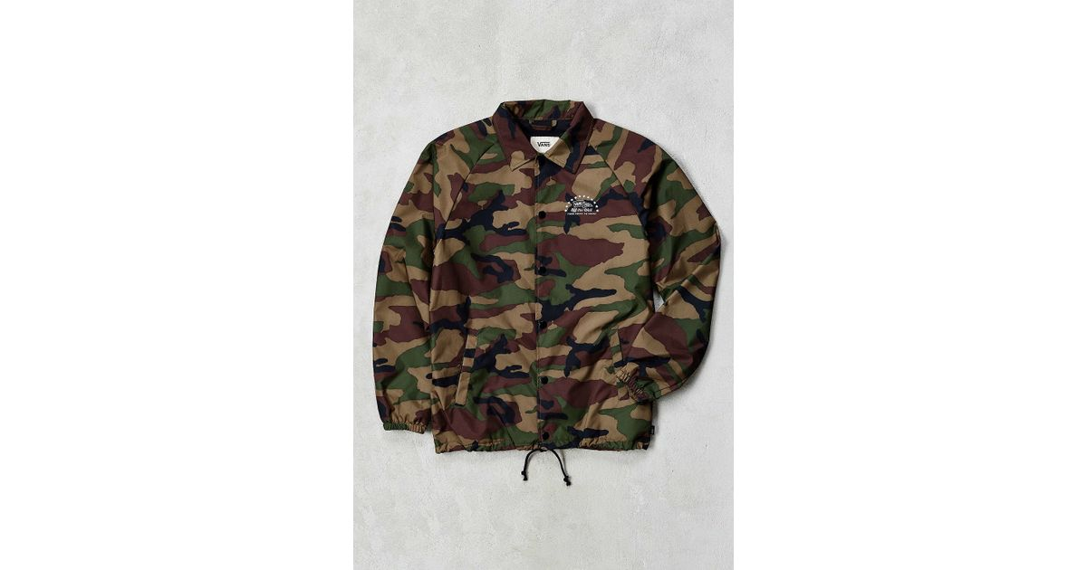 Vans Torrey Camo Coaches Jacket In Green For Men Lyst