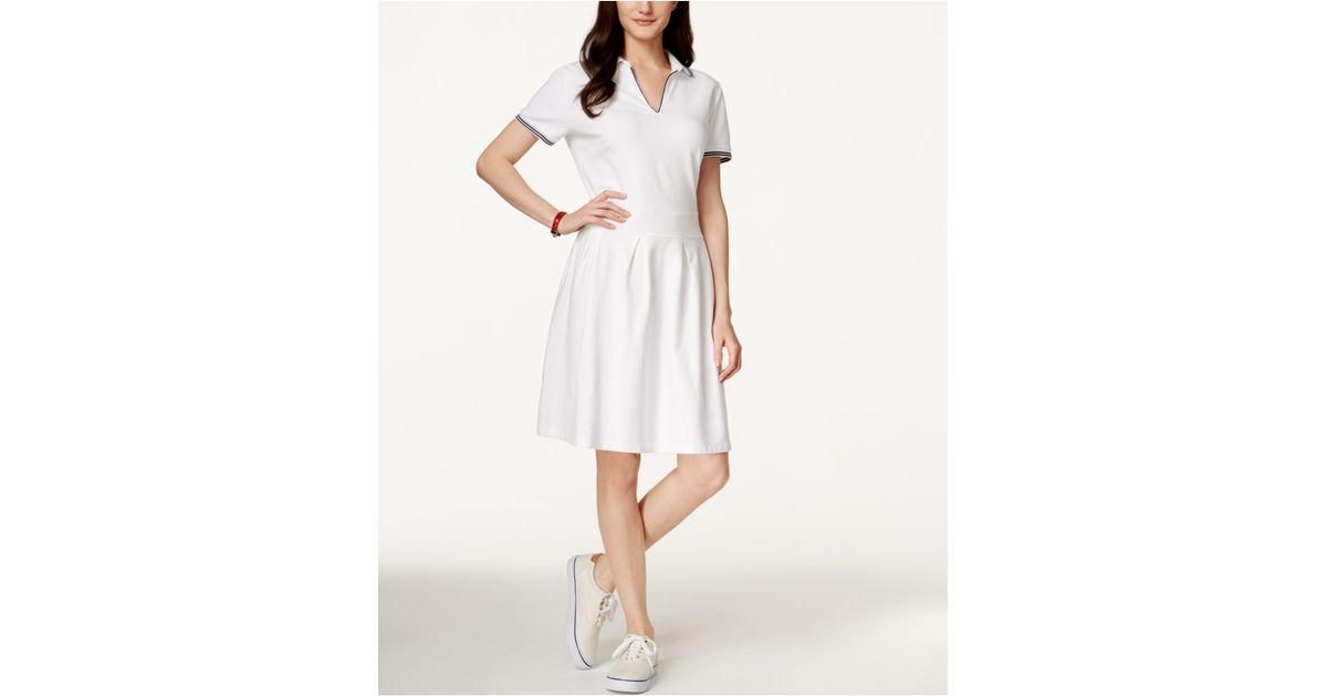 Tommy Hilfiger Bianca Short Sleeve Shirtdress In White