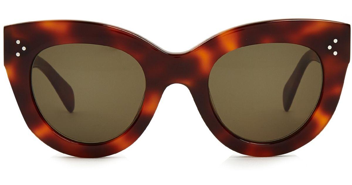 33a301f57463 Celine Cat Eye Sunglasses In Acetate