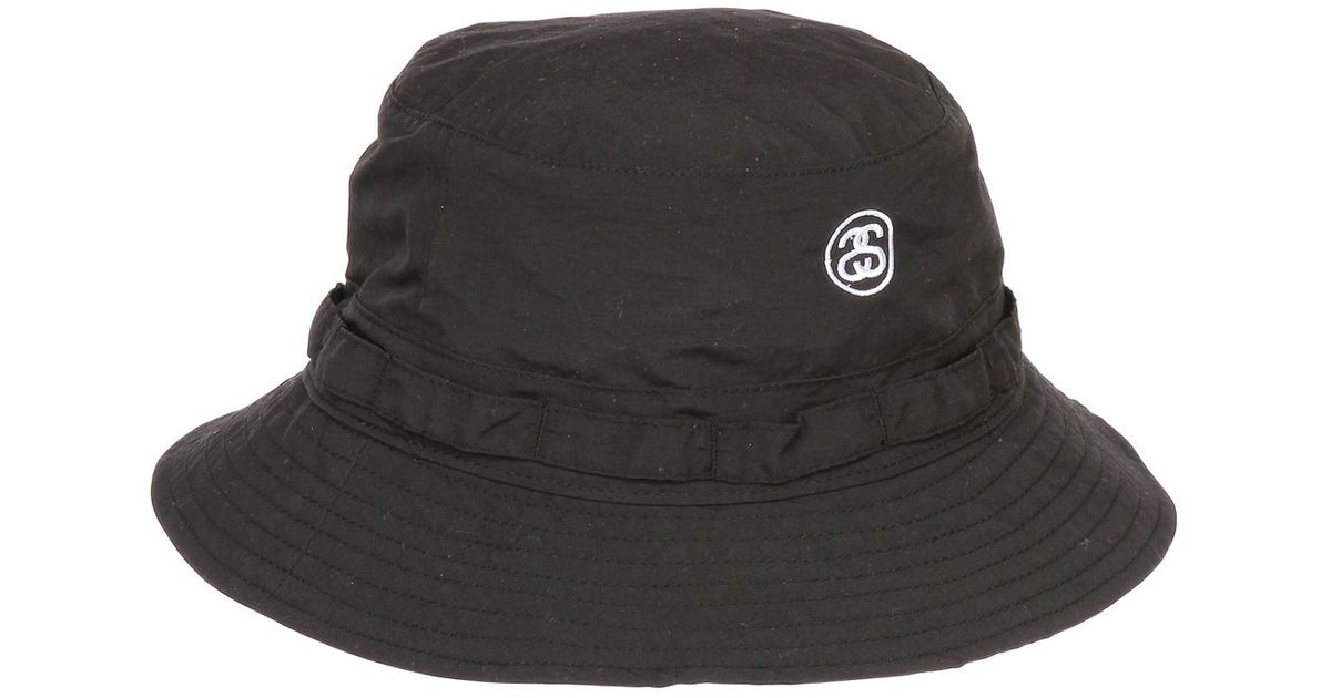 Stussy Packable Bucket Hat in Black - Lyst 293fb38f1