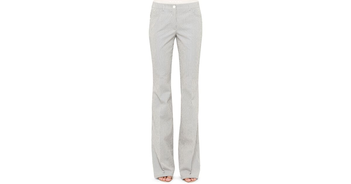 0fb194c77c4e Lyst - Akris Punto Faye Bootcut Seersucker Pants in Gray
